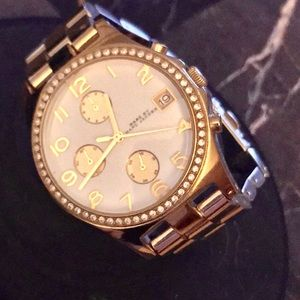 Marc By Marc Jacobs Quartz Goldtone Crystal Watch